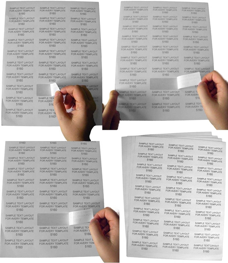 Picture of HouseLabels' brand, 30 Labels per Sheet