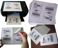 Picture of HouseLabels' brand, 2 Labels per Sheet (200 sheets, shipping included)