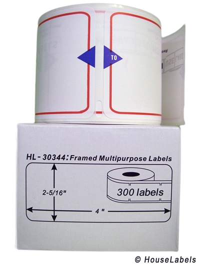 Picture of Dymo - 30344 Red-framed Shipping Labels (12 Rolls – Shipping Included)