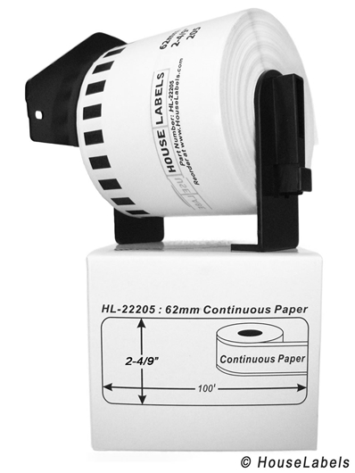 Picture of Brother DK-2205 (12 Rolls + Reusable Cartridge– Shipping Included)