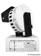 Picture of Brother DK-2210 (39 Rolls + Reusable Cartridge– Shipping Included)
