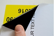 Picture of HouseLabels' brand, 2 Labels per Sheet, BLACKOUT technology (200 sheets, shipping included)
