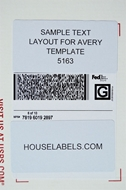 Picture of HouseLabels' brand, 10 Labels per Sheet, BLACKOUT technology (100 sheets, shipping included)