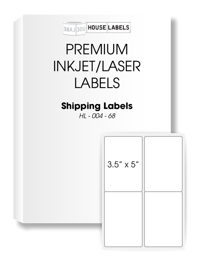 Picture of HouseLabels' brand, 4 Labels per Sheet (2000 sheets, shipping included)