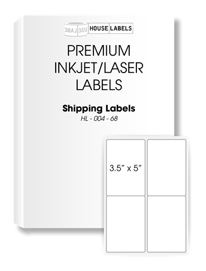 Picture of HouseLabels' brand, 4 Labels per Sheet (200 sheets, shipping included)