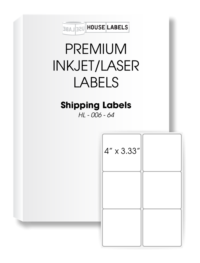 Picture of HouseLabels' brand, 6 Labels per Sheet (200 sheets, shipping included)
