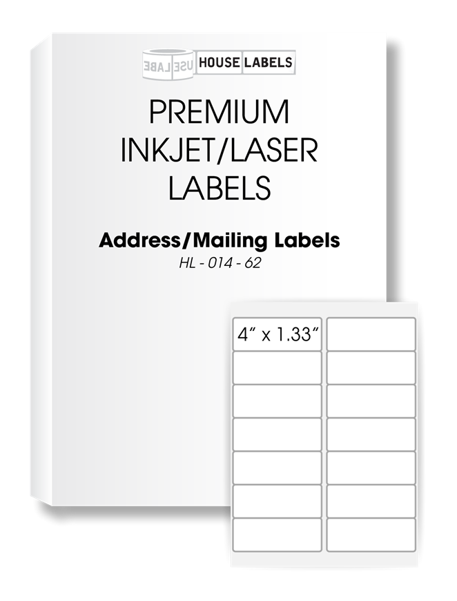 Picture of HouseLabels' brand, 14 Labels per Sheet