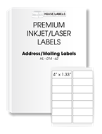 Picture of HouseLabels' brand, 14 Labels per Sheet (1000 sheets, shipping included)