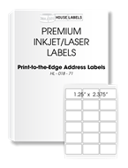 Picture of HouseLabels' brand, 18 Labels per Sheet (200 sheets, shipping included)