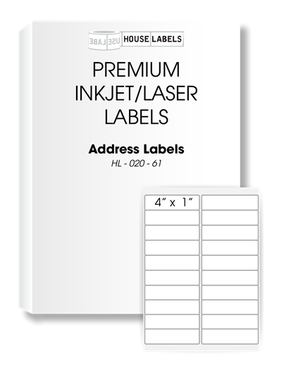 Picture of HouseLabels' brand, 20 Labels per Sheet (200 sheets, shipping included)