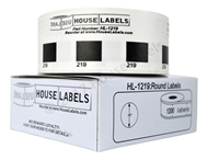 """Picture of BROTHER-Compatible DK-1219 Small Round Labels (Diameter 1/2"""" / 12mm; 1200 Labels per Roll) -- BPA Free!"""