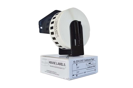 Picture of Brother DK-2214 (14 Rolls + 2 Reusable Cartridges – Shipping Included)