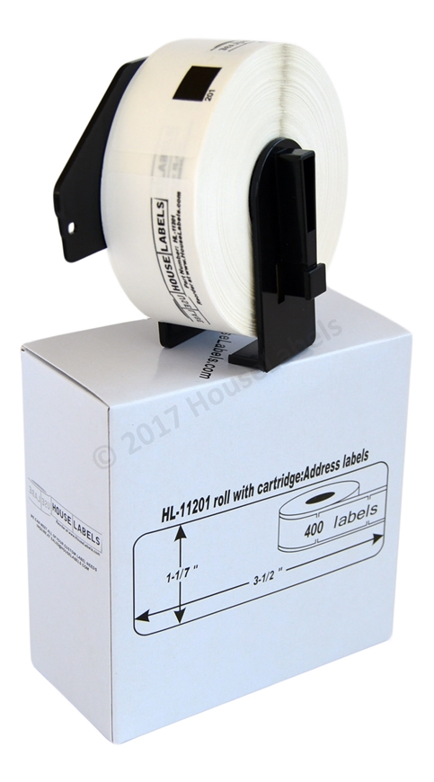 Picture of 10 Rolls, Brother DK-1201 (DK11201) with permanent cartridge