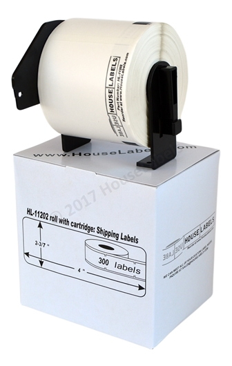 Picture of 6 Rolls, Brother DK-1202 (DK11202) with permanent cartridge