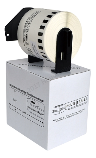 Picture of 2 Rolls, Brother DK-2205 (DK22205) with permanent cartridge