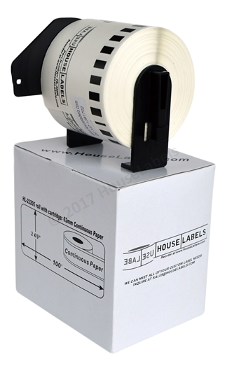 Picture of 6 Rolls, Brother DK-2205 (DK22205) with permanent cartridge