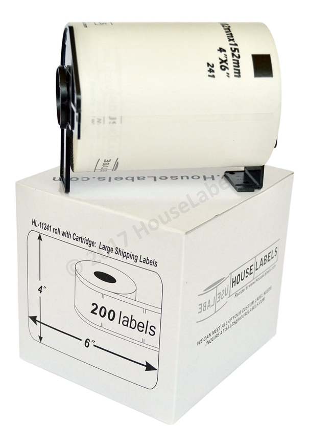 Picture of 4 Rolls of Brother DK-1241 (DK11241) with permanent cartridges