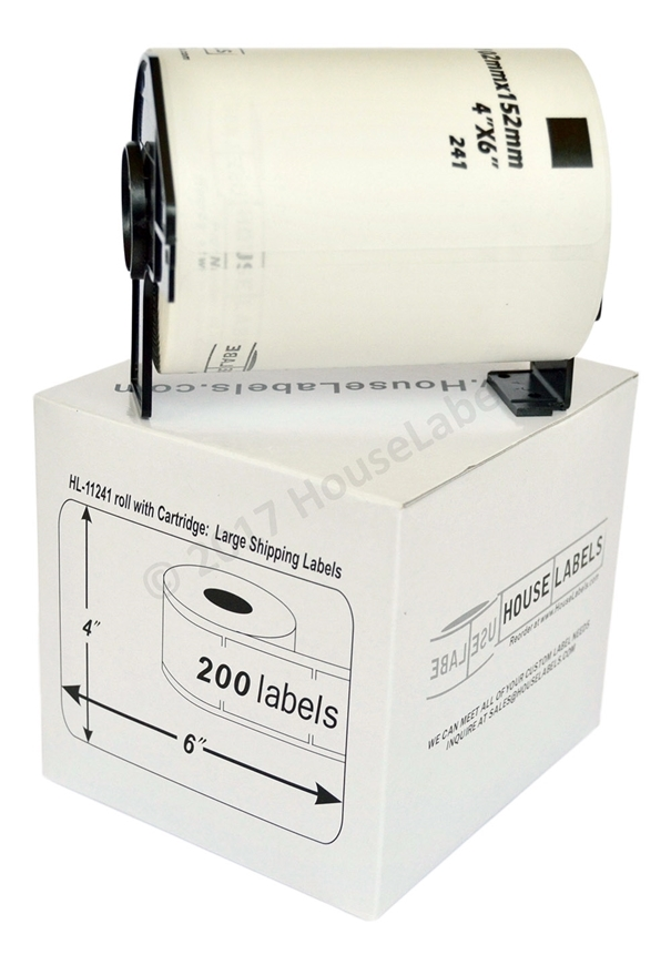 Picture of 14 Rolls of Brother DK-1241 (DK11241) with permanent cartridges