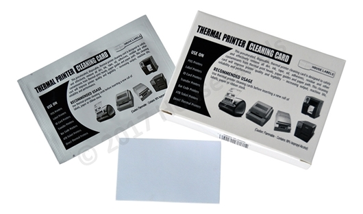 "Picture of 25 BROTHER Compatible Cleaning Cards (60622) 2.1"" x 3.425"""