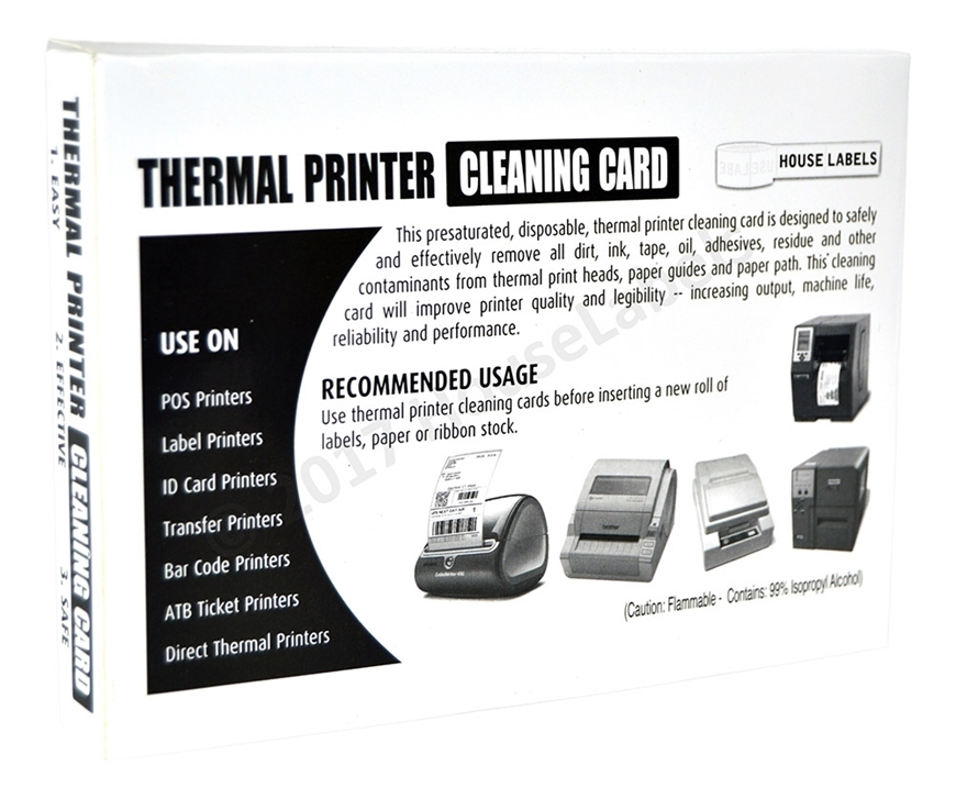 "Picture of 25 BROTHER Compatible Cleaning Cards, 4"" x 6"" Used For BROTHER Desktop Printers ( 1240, 1241, 2243 )"