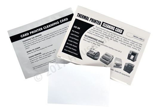 "Picture of 25 DYMO Compatible Cleaning Cards, 4"" x 6"" Used For DYMO 4XL Desktop Printers ( 1744907, 1785353 )"