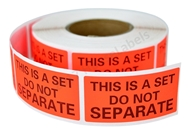 Picture of 56 Rolls (500 Labels Per Roll) Pre-Printed 1x2 This Is A Set Do Not Separate Labels/Stickers. Free Shipping