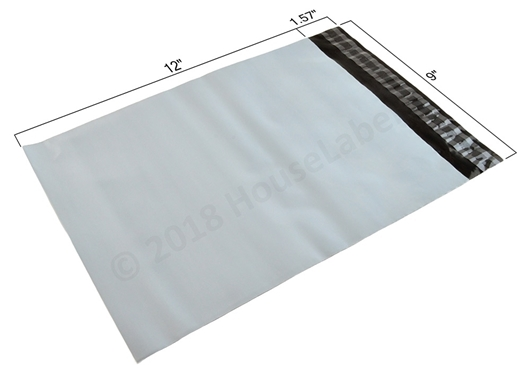 """Picture of 1,000 Bags Poly Mailer 9""""X12"""" 2.35 Mil Free Shipping"""