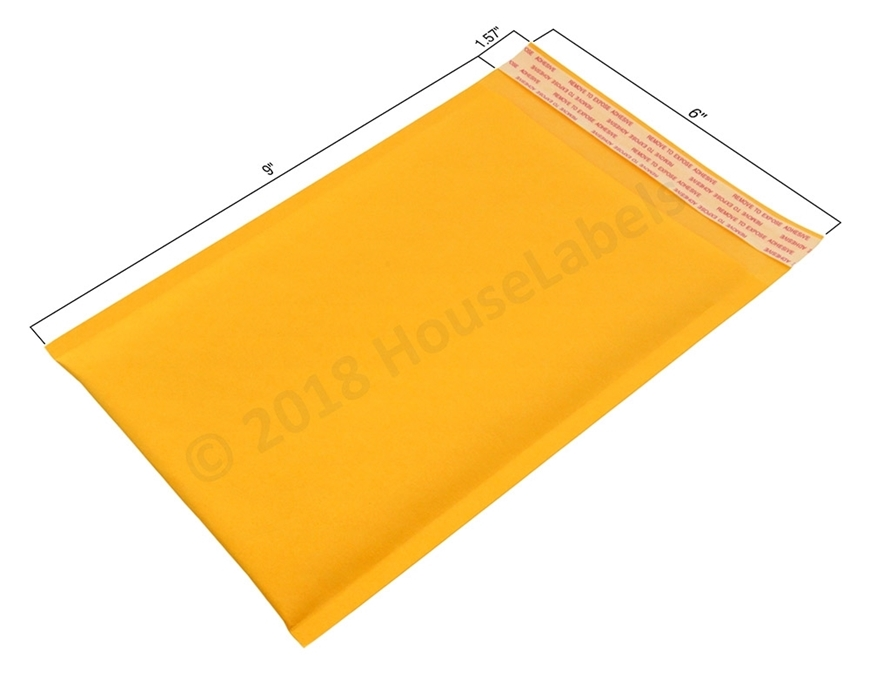 "Picture of 250 Bags KRAFT Bubble Padded Envelope 6""x10"" (6""x9"" usable space) Free Shipping"