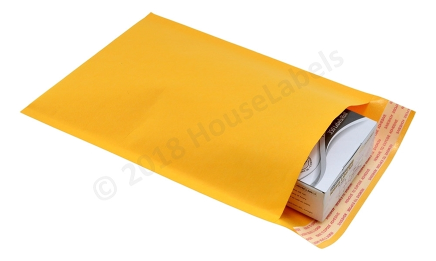 "Picture of 500 Bags KRAFT Bubble Padded Envelope  6""x10"" (6""x9"" usable space) Free Shipping"
