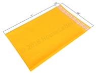"Picture of 100 Bags KRAFT Bubble Padded Envelope 7.25""x12"" (7.25""x11"" usable space) Free Shipping"