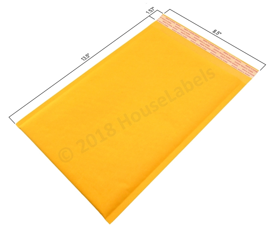 "Picture of 100 Bags KRAFT Bubble Padded Envelope  8.5""x14.5"" (8.5""x13.5"" usable space) Free Shipping"