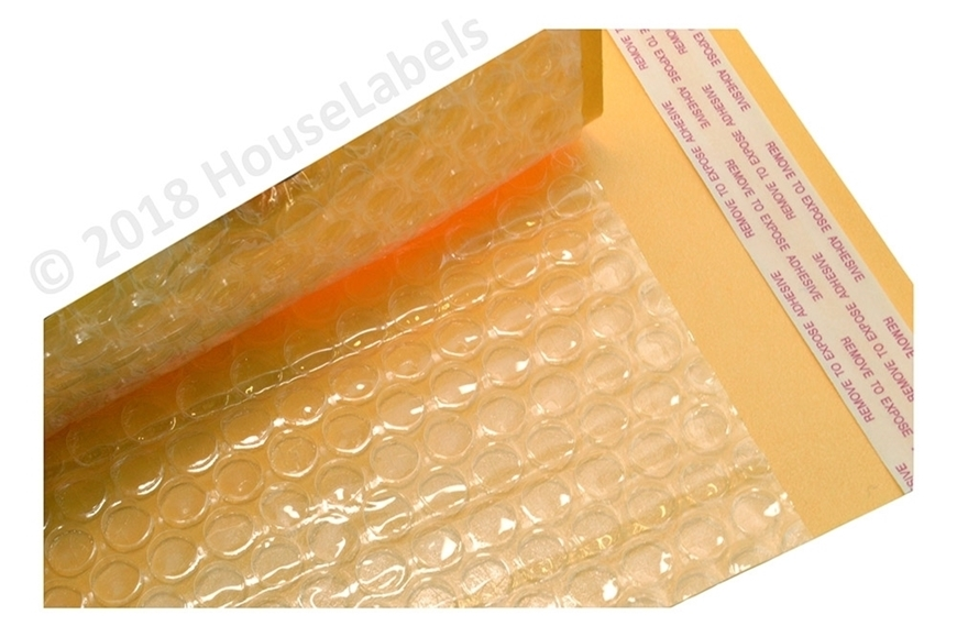 "Picture of 500 Bags KRAFT Bubble Padded Envelope  8.5""x14.5"" (8.5""x13.5"" usable space) Free Shipping"