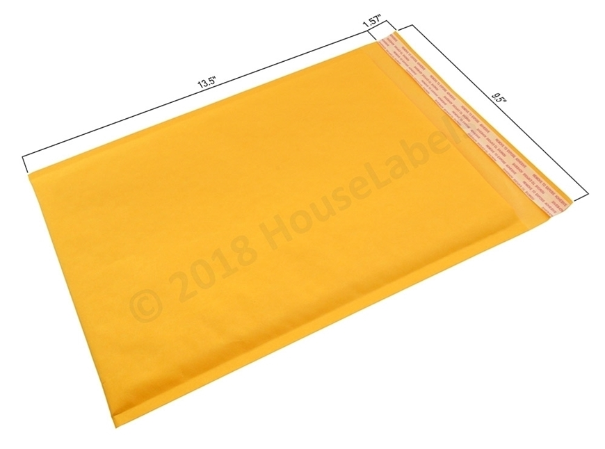 "Picture of 2000 Bags KRAFT Bubble Padded Envelope  9.5""x14.5"" (9.5""x13.5"" usable space) Free Shipping"