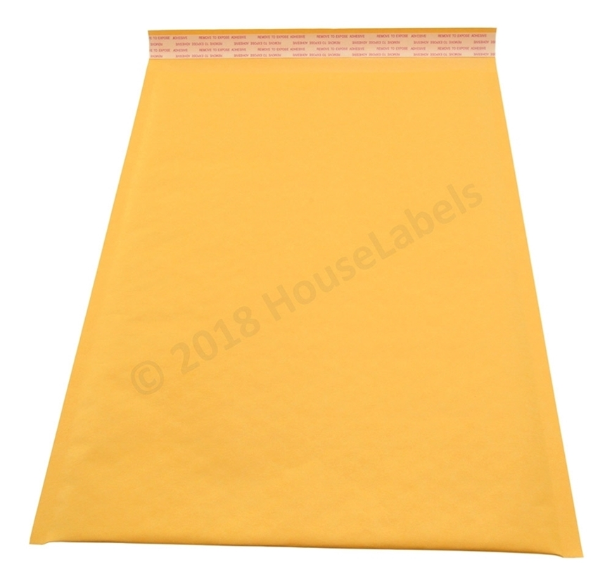 "Picture of 500 Bags KRAFT Bubble Padded Envelope 10.5""x16"" (10.5""x15"" usable space) Free Shipping"