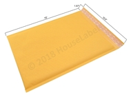 "Picture of 1000 Bags KRAFT Bubble Padded Envelope 10.5""x16"" (10.5""x15"" usable space) Free Shipping"