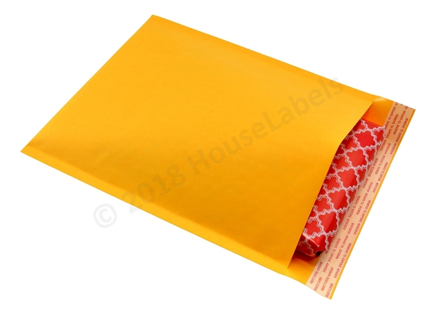 """Picture of 100 Bags KRAFT Bubble Padded Envelope 8.5""""x12"""" (8.5""""x11"""" usable space) Free Shipping"""