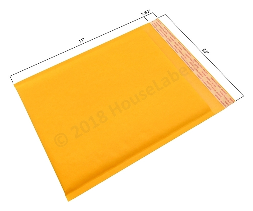 "Picture of 1000 Bags KRAFT Bubble Padded Envelope 8.5""x12"" (8.5""x11"" usable space) Free Shipping"