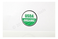 Picture of 3 Rolls (3000 labels) USDA Organic Labels 1 Inch Round Circle Adhesive Stickers