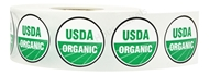 Picture of 10 Rolls (10000 labels) USDA Organic Labels 1 Inch Round Circle Adhesive Stickers
