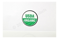 Picture of 20 Rolls (20000 labels) USDA Organic Labels 1 Inch Round Circle Adhesive Stickers