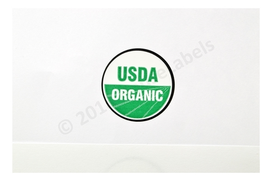 Picture of 39 Rolls (39000 labels) USDA Organic Labels 1 Inch Round Circle Adhesive Stickers