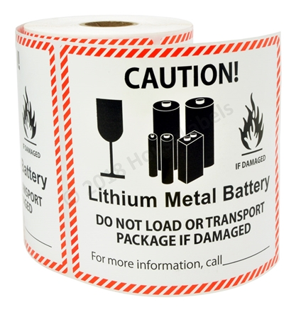 Picture for category Lithium Metal Battery Warning Labels