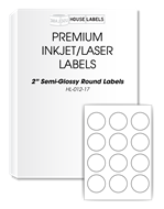 """Picture of HouseLabels' brand – Round Dots 2"""" (600 Sheets – Shipping Included)"""