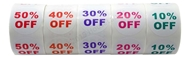 Picture of Discount Labels Combo Pack - 100 Rolls, 20 Rolls of each % Discount (10-50%)