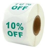 Picture of Discount Labels - 10% Off (16 Rolls - Free Shipping)