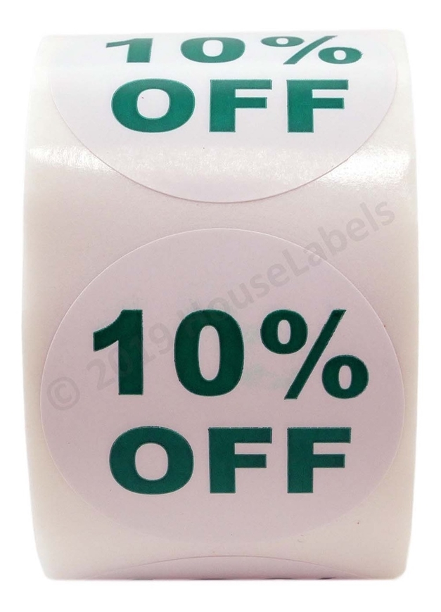 Picture of Discount Labels - 10% Off (45 Rolls - Free Shipping)
