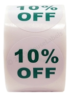 Picture of Discount Labels - 10% Off (100 Rolls - Free Shipping)