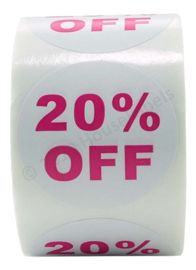 Picture of Discount Labels - 20% Off