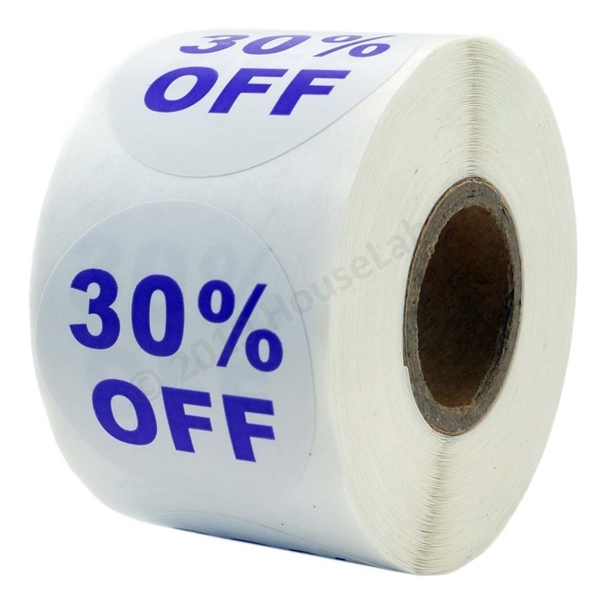 Picture of Discount Labels - 30% Off