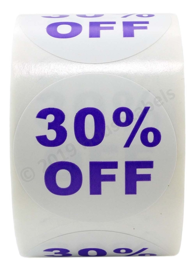 Picture of Discount Labels - 30% Off (100 Rolls - Free Shipping)